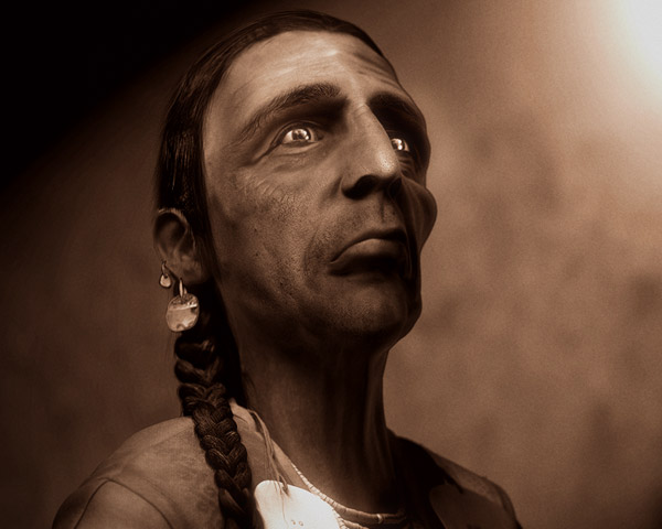 Future -  based on an old photo of an old tribe indian. modeled and rendered with lightwave, post prod in photoshop...